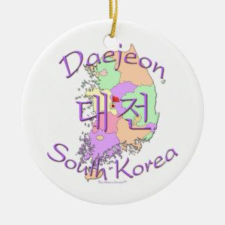 Daejeon South Korea Christmas Ornament