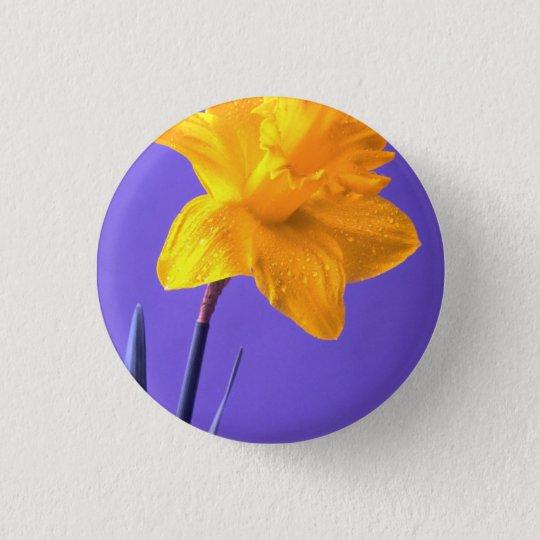 Daffodil 3 Cm Round Badge