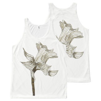 daffodil All-Over print tank top