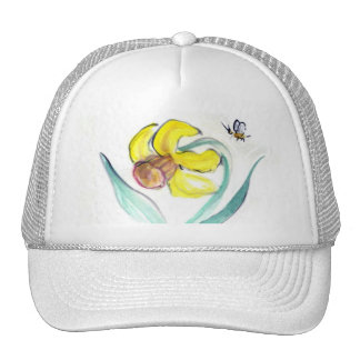 Daffodil and Buzzin Bee, Sumi-e Trucker Hat