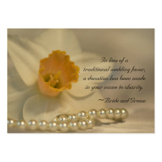Daffodil and Pearls Wedding Charity Favor Card Pack Of Chubby Business Cards