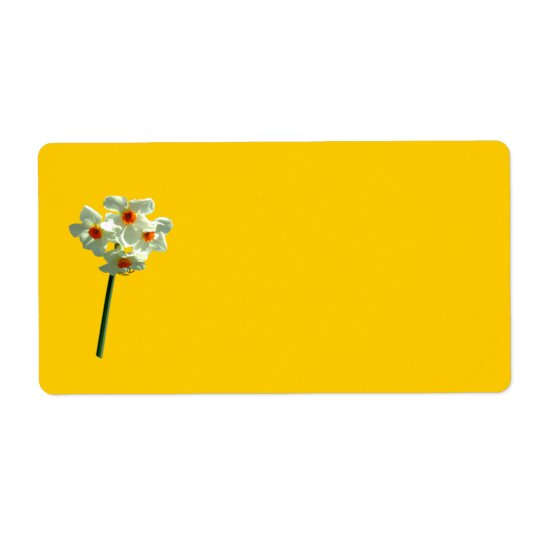Daffodil Avery Label Shipping Label