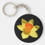 Daffodil (Background Removed) Basic Round Button Key Ring