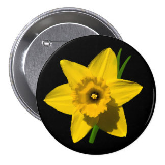 Daffodil badge St.David's Day large size Button