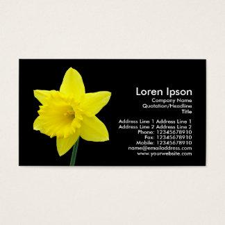 Daffodil - Black Business Card