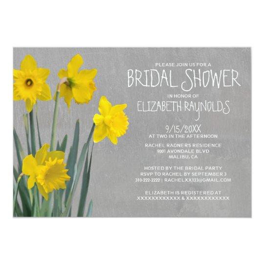Daffodil Bridal Shower Invitations