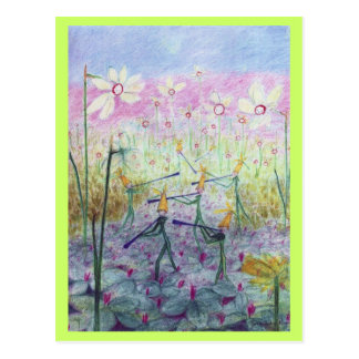 daffodil elves postcard