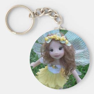 Daffodil Faery Keychain