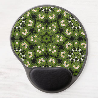 Daffodil Floral Geometric Mousepad Gel Mouse Mat