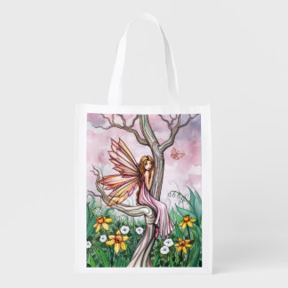Daffodil Flower Fairy Fantasy Art Shopping Bag