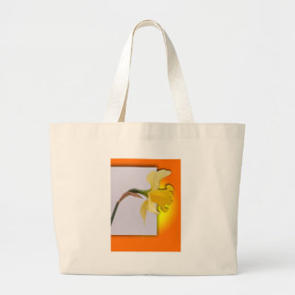 Daffodil flower out the frame tote bag