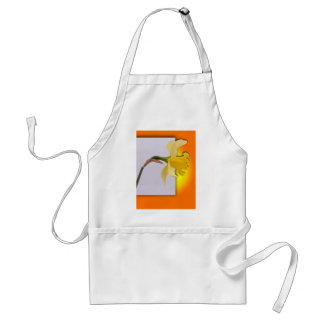 Daffodil flower out the frame standard apron