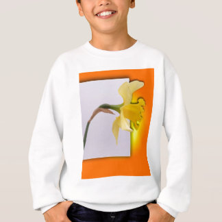 Daffodil flower out the frame sweatshirt