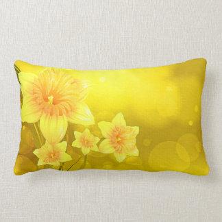 Daffodil Flower Polyester Lumbar Throw Pillow Throw Cushion