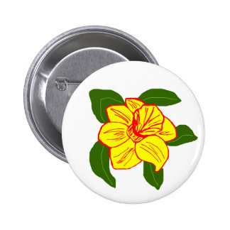 Daffodil flower sea turtle button