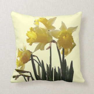 Daffodil Flowers Pillow Throw Cushion