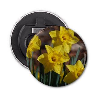 Daffodil Garden Button Bottle Opener