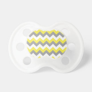 Daffodil Gray and White Zigzag 2 Pacifier