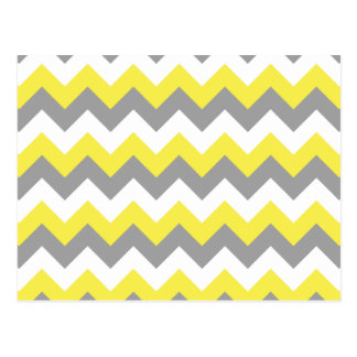 Daffodil Gray and White Zigzag 2 Postcard