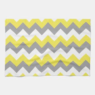 Daffodil Gray and White Zigzag 2 Tea Towel