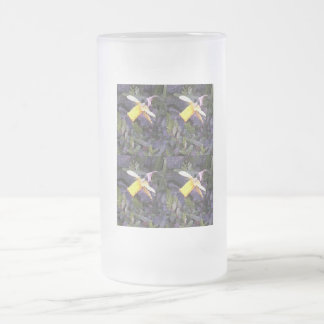 Daffodil Medley Frosted Glass Beer Mug