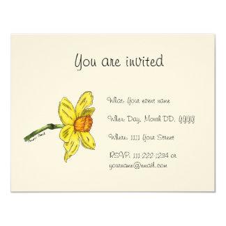 Daffodil (Narcissus) Invitation
