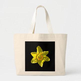 Daffodil On Black - Tote
