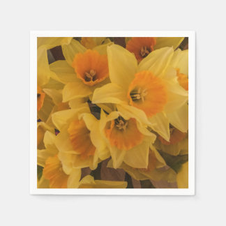 Daffodil paper napkins