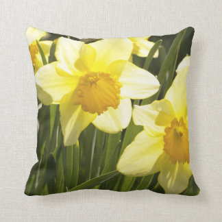 Daffodil Smiling Throw Pillow by Upscale Bohemian