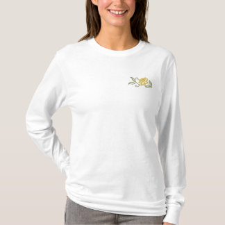 Daffodil Spray Embroidered Long Sleeve T-Shirt