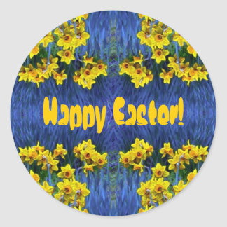 Daffodil Spring Fantasy Round Sticker