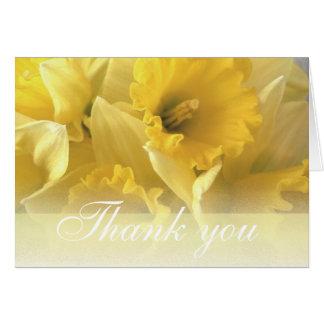 daffodil thankyou 1 note card