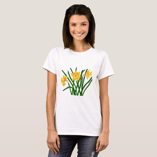 Daffodil Watercolour Painting Artwork Print T-Shirt