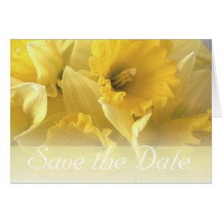daffodil wedding announcement note card