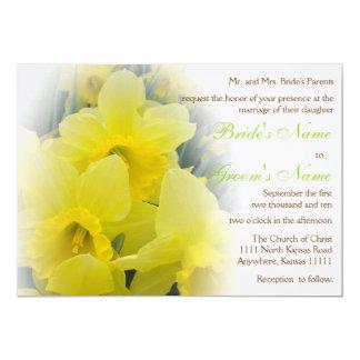 Daffodil Wedding Card