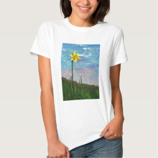 daffodil with blue sky t shirt