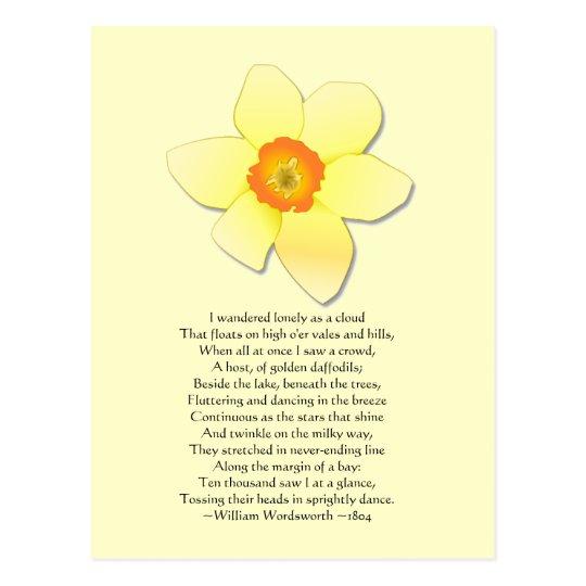 Daffodil ~ Wordsworth Poem Postcard