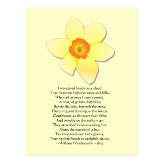 Daffodil ~ Wordsworth Poem Postcards