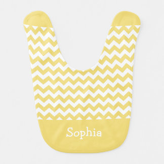 Daffodil Yellow Chevron Bib