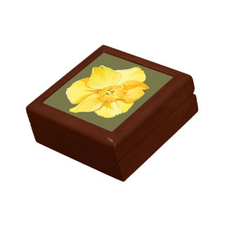 Daffodil Yellow Short-Trumpet Spring Flower Gift Box