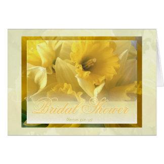 Daffodils 1 bridal shower invitation note card