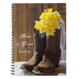 Daffodils and Cowboy Boots Country Western Wedding Notebook