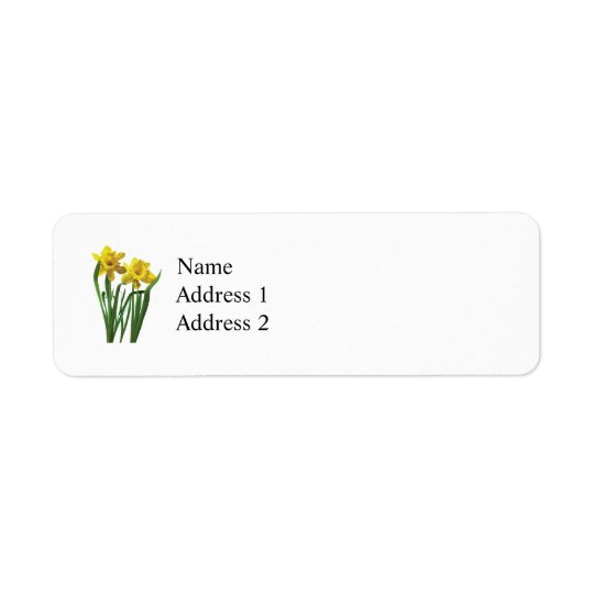 Daffodils At Attention Return Address Label