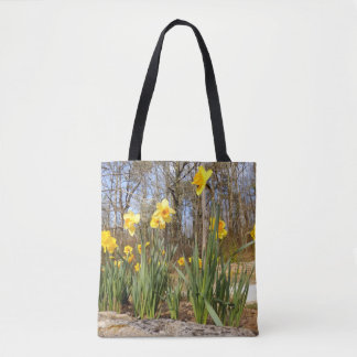 Daffodils at Easter All Over Print Tote Bag