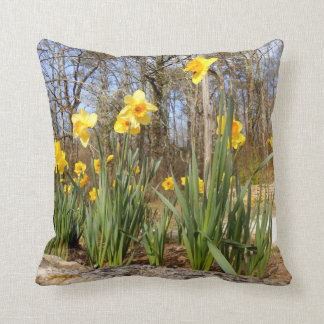 Daffodils at Easter Throw Cushion