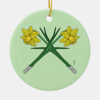 Daffodils Crossed Christmas Ornament