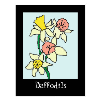 daffodils drawing Daffodils Post Card