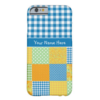 Daffodils Faux Patchwork and Gingham iPhone 6 Case