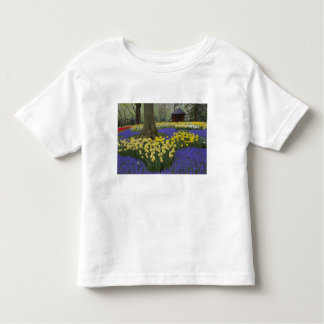 Daffodils, grape hyacinth, and tulip garden, toddler T-Shirt