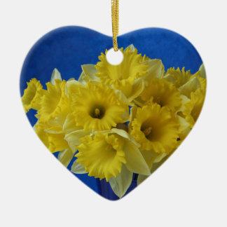 daffodils heart ornament